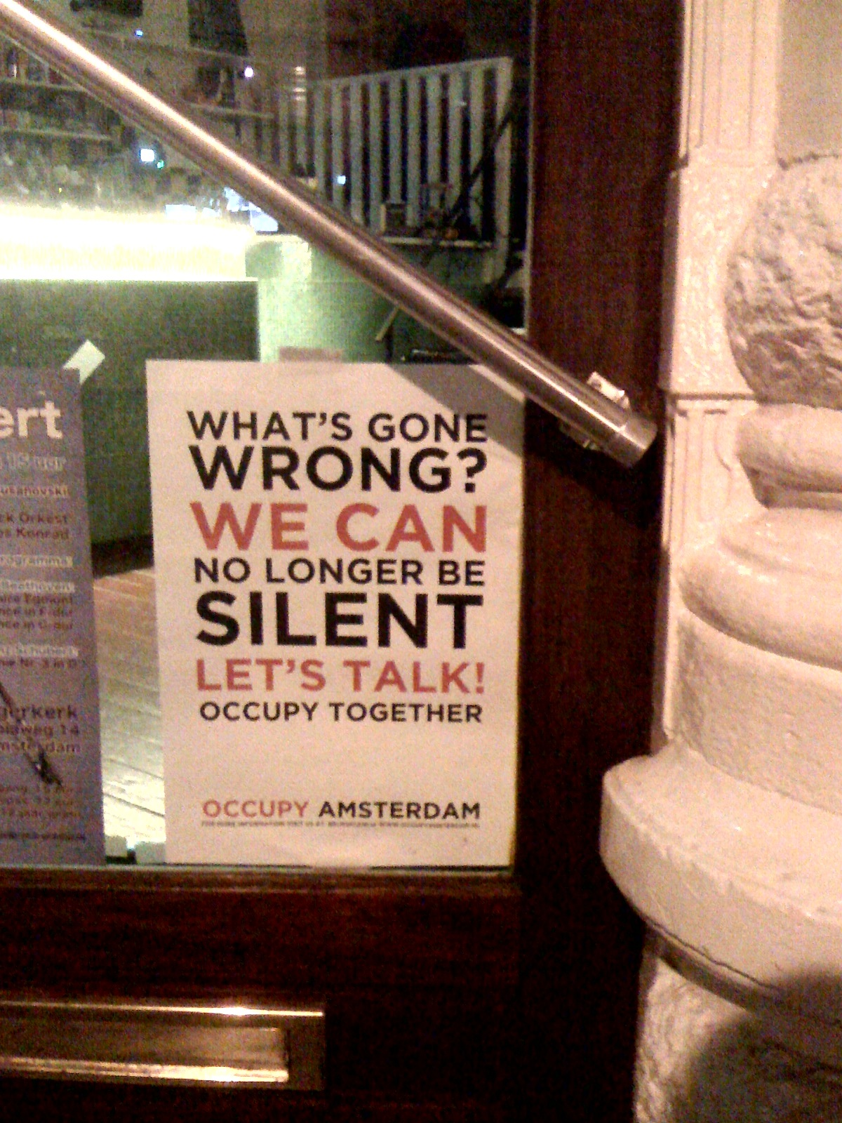 What's gone wrong? We can no longer be silent. Let's talk! #occupy together