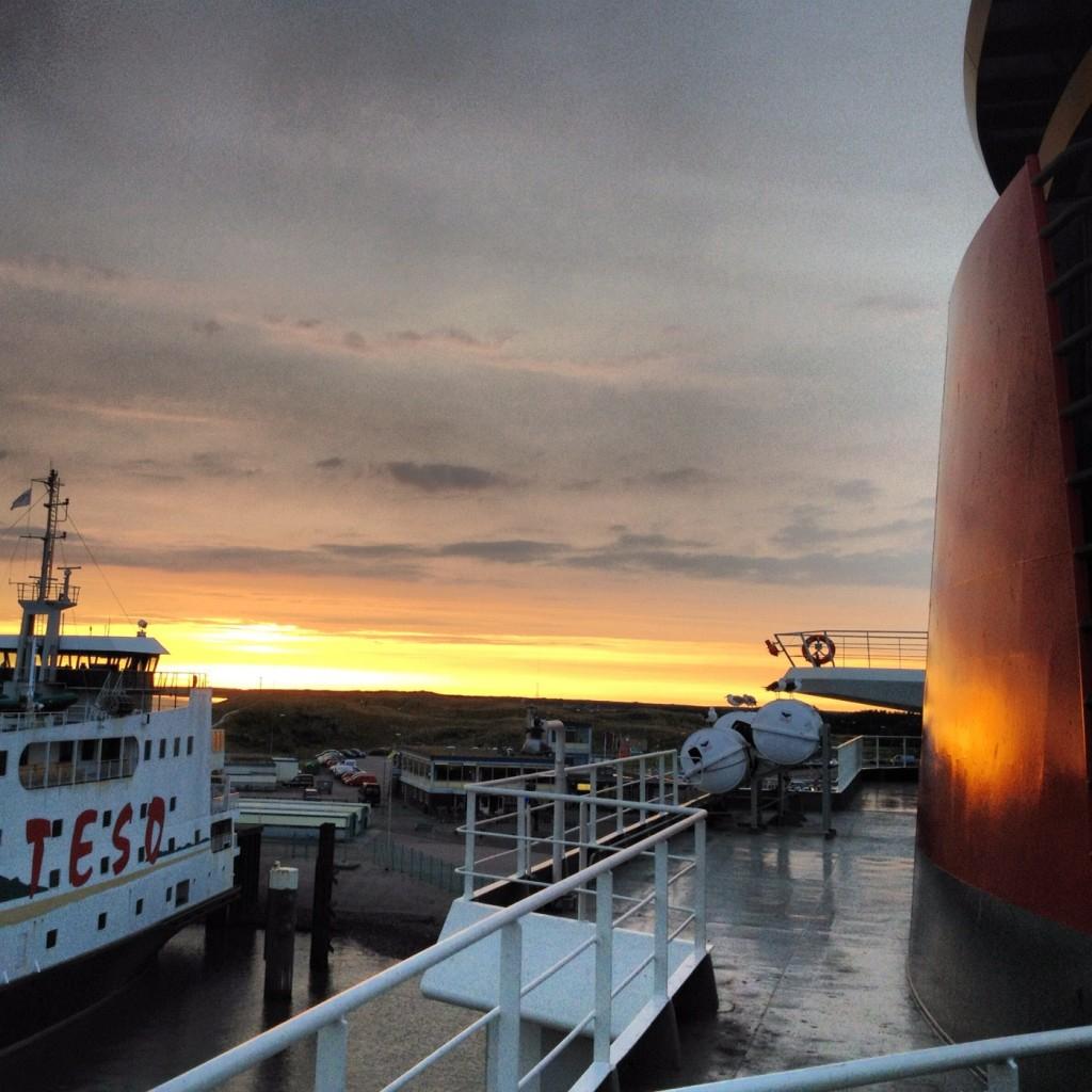 De veerboot van Texel