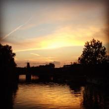 zonsondergang in Amsterdam Oost