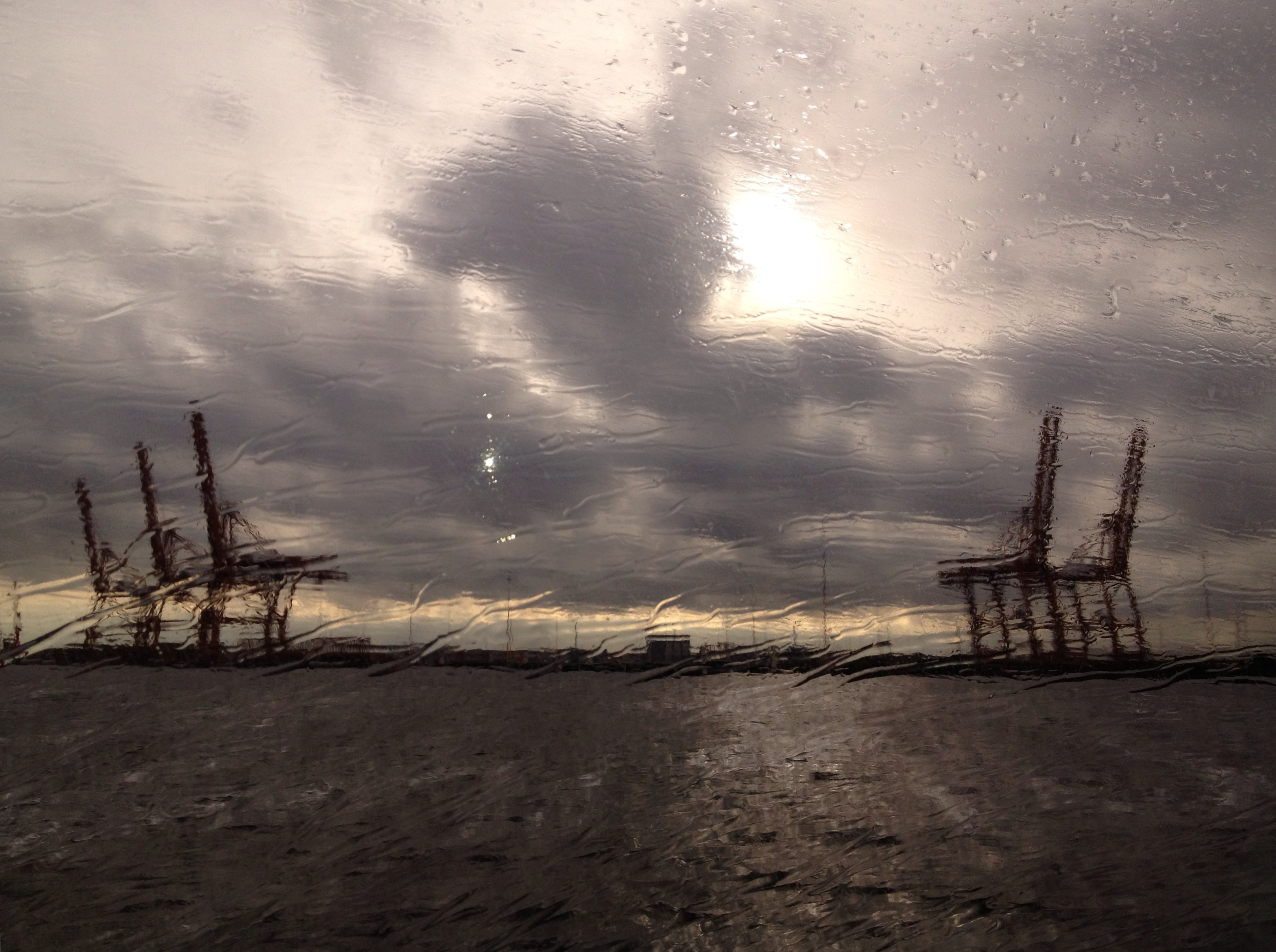 Amsterdamse haven vanuit Fast Flying Ferry