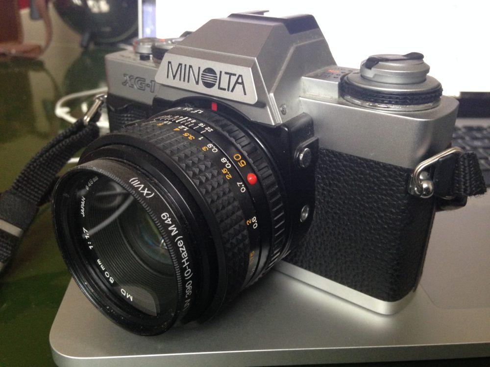Minolta SG1 + Minolta lens 49mm 1:1,17 + UV filter 390 (O-Haze)