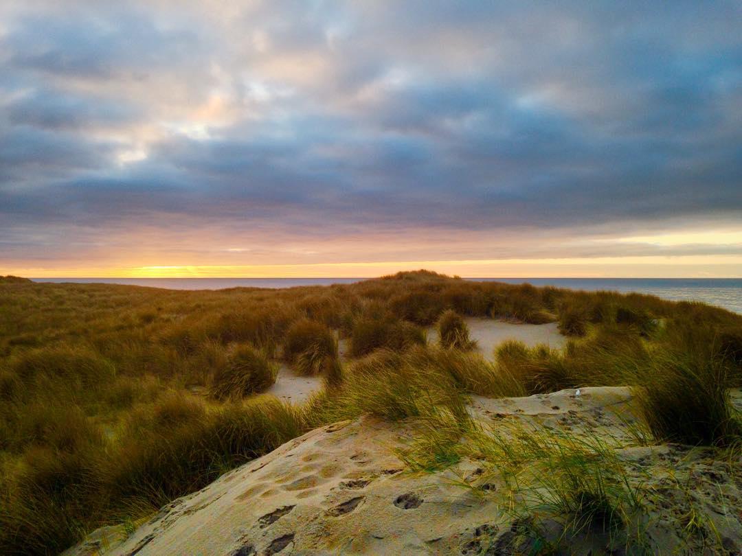 Duinen Texel zonsondergang