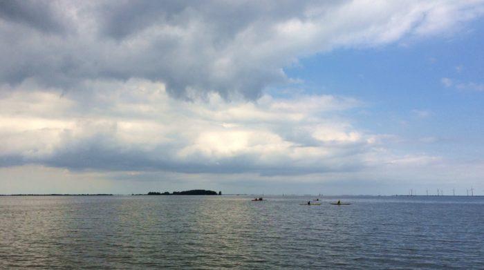 kajakkers op het IJmeer